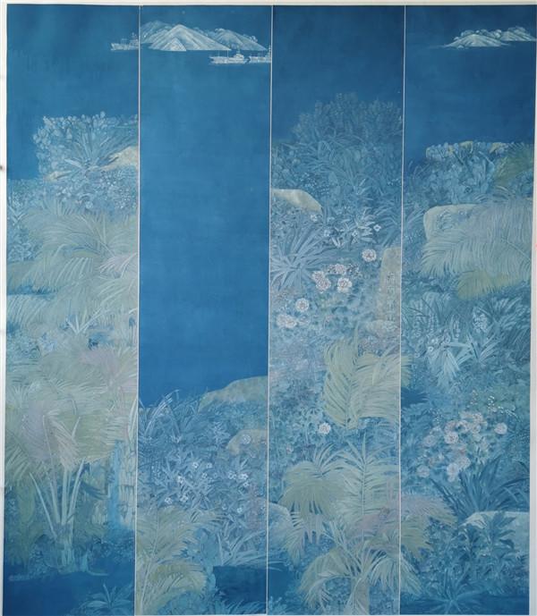 国画《海南·花鸟序》