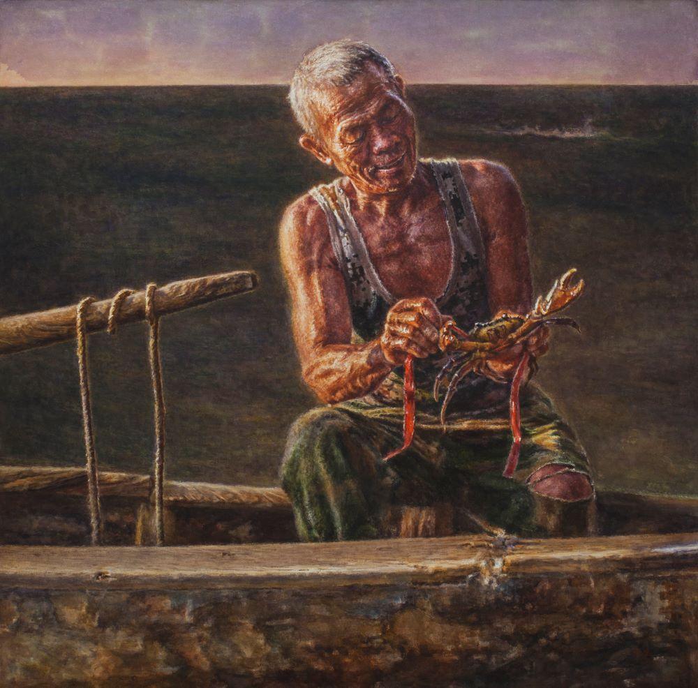 【第三届南海伟德手机网址奖获奖作品】水彩画《南海渔翁》